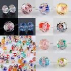 Wholesales Mixed Murano Lampwork Glass Flower Rondelle Spacer Loose Bead Finding