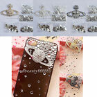 3D Alloy Bling Crystal Saturn Westwood DIY cell Phone iPhone Case - Deco Den Kit