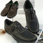 New Top Band Black Brown Casual Dress Loafers Mens Shoes