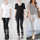 2014 New Fashion Women short-sleeved Loose Cotton Trend T-shirt Blouse Top Kgw