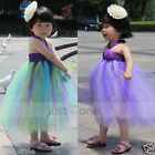 Lovely Baby Girls Toddlers Wedding Party Sweet Princess Halter Tutu Dress 3Y-4Y