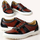 New Unique Mens Sneakers Brown Comfort Casual Lace Up Shoes
