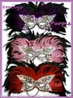 MASQUERADE BALL Feather Face Eye Mask Fancy Dress  Venetian Masks