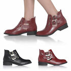 Ladies Flat Low Heel Pixie Vintage Retro Chelsea Style Winter Ankle Boots Size