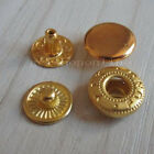 50 100 300 500 Leather Gold Rapid Rivet Button Snap Fastener KAM 10mm 12mm 15mm