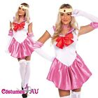 Sailor Moon Costume Cosplay Uniform Fancy Dress Up Fantasy Outfit & Gloves
