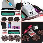 Electric Nail ART Drill Pen File 36 6 Bits Sanding Bands Acrylic Manicure kit