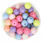 25pcs Candy Color Acrylic Round Loose Spacer Beads 10mm
