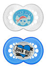 MAM Rock 'n Roll Silicone Pacifiers 6+m, 2-pk BPA FREE