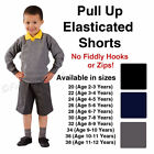 Boys School Shorts Pull Up Pull On Elastic Black Grey Age 3 4 5 6 7 8 9 10 11 12