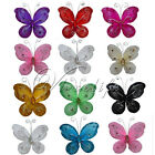 "10 of 3""(7.62cm) Nylon Glitter Artificial Butterfly Rhinestone Wedding Favor"