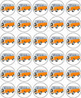 VW CAMPER VAN BIRTHDAY RETIREMENT EDIBLE RICE PAPER CUP CAKE TOPPER DECORATIONS