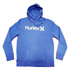 Hurley Mens One & Only Hooded Sweatshirt Black, Heather Royal