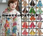Hot 15 color Women cotton Scarf Wraps Shawl Stole Soft Scarve Flower Super