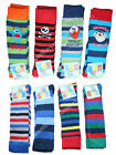 Boys Warm Thick Striped Character Long Wellie Socks Kids Welly Wellington Boots