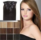 "selectable 28"" 70CM Clip in on hair Extension 100% Human Hair many colors"