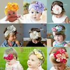 Infant Baby Kid Girl Hair Decoration Cotton Flower Elastic Headband NB - 12 year