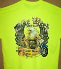 2012 Daytona Beach Bike Rally T Shirt Safety Green Sz SM - 5XL Great Golden Leaf