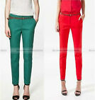 Women Fashion Casual Candy Colors Slim Fit Pencil Long Pants Trousers New WPT260