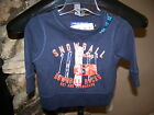 "Children's Place Navy Blue ""Snowball Valley Downhill Races"" Sweatshirt 6-9 Mos"