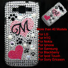 Footprint Crystal Diamond Plastic Back Case Cover Skins For Mobile Cell Phone #B