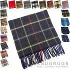 100% LAMBSWOOL MENS SCARF BROWN GREEN RED