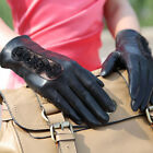 Daily Women Italian Genuine Kid Leather lace unlined driving Gloves w/ sexy rose
