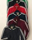 J. America Mens Size S-2X 3XL Vintage Track Jacket Full Zip Stripe Sleeve Jumper