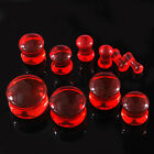 2/10/100pcs wholesale Red Acrylic Size Choose Saddle Ear Plug Piercings FR146