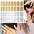 16pcs Smooth Silver/Golden Nail Art Sticker Patch Foils Armour Wraps Decoration
