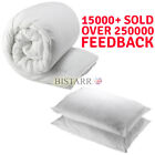 DUVET & 2 PILLOWS PACK, SINGLE DOUBLE KING SIZE - 4.5, 10.5, 13.5, 15 TOG QUILT