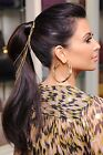 "28"" high ponytail clip-on Real  human hair extensions  silk straight  100g 120g"
