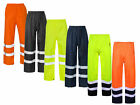 Hi High Vis Viz Visibility Work Wear Safety Over Trousers Waterproof Pants S-4XL