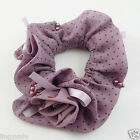 Various Color Cloth Chiffon Elastic Hair Rope Findings Ponytail Holder 3PCS