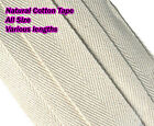 COTTON WEBBING NATURAL BEIGE BUNTING HERRINGBONE APRON SEWING TAPE ALL SIZES