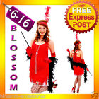 G59 1920s Charleston Red Flapper 20s Chicago Gangster Fancy Dress Party Costume