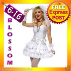 G64 Madonna Virgin Bride 80s Clothing Fancy Dress Hens Party Costume Outfit