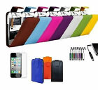 MINI  STYLUS & LEATHER FLIP COVER CASE FOR APPLE & NOKIA PHONES SCREEN PROTECTOR