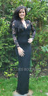 John Zack Black Scallop V Neck Lace Maxi Evening Dress Party Formal New 6 - 20