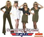 Ladies Official Top Gun Fancy Dress Costume Aviator Captain Outfit Hen Party
