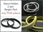 SHIRT SLEEVE HOLDERS,ARM BANDS,2-PAIR BARGAIN PACK,SILVER,GOLD or BLACK