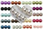 GLASS PEARL BEADS ROUND 200x4mm 100x6mm 50x8mm 25x10mm BUY 3 GET 3 FREE