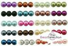 ROUND GLASS PEARL BEADS 400x4mm 200x6mm 100x8mm 50x10mm TOP QUALITY 30 COLOURS