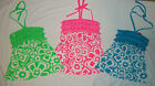 NEW JUSTICE NEON FLORAL BANDEAU SHIRT/TOP SIZE 6 8 10 12 16 18 20 W/FRINGE&BEADS