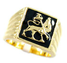 Mens Lion Of Judah Gold Plated Ring Size 14