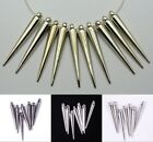 20/50pc Silver/Black Spike Charms Beads For Basketball Wives Punk Earrings