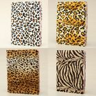 IPAD 2 3rd PU Leather Leopard Animal Print Velet Skin Magnetic Cover Case Stand