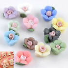 50/100pc 3D Rose Flower Fimo Ceramic For Nail Art Tips Cell Phone Decoration DIY