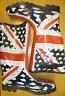 Union Jack with Hearts Design Wellington Boots 8452