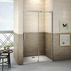 New Sliding Walk In Shower Enclosure 8mm Easyclean Glass Door Screen Stone Tray